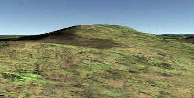 Google Earth View of Day's Knob (33GU218) from South